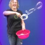 Ruth Evans Fotos aus Seifenblasen-Aktion 1