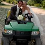 Ruth Evans Fotos aus Hochzeit Traktor